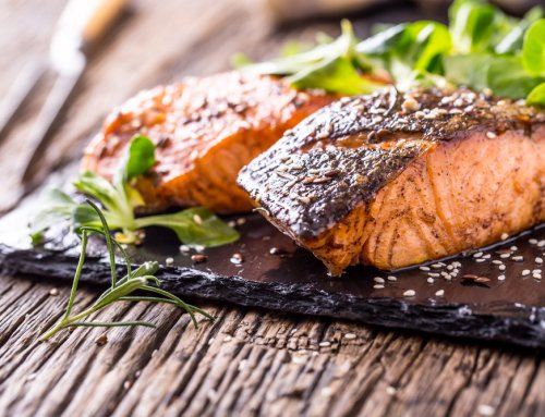 Salmon fillets with sweet chilli & steamed greens