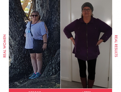 Kaye has lost 15kg and 13cm from her waist!