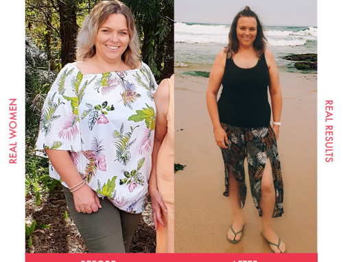 Rachel no longer feels like she has to hide behind her clothes after losing 20kg