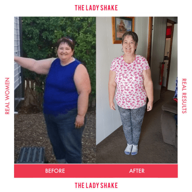 Carol Ann lost 26kgs with the Lady Shake