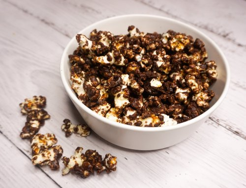 Chocolate coated popcorn
