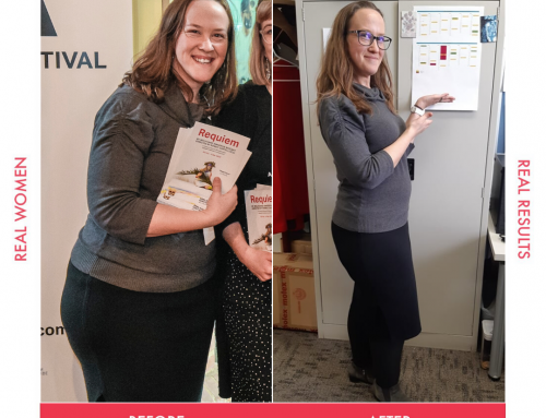 Prue lost an incredible 14kg